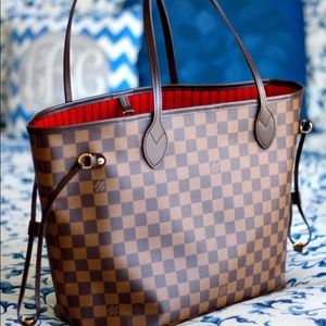 New LOUIS VUITTON Neverfull Handbag Purse Onsunlun